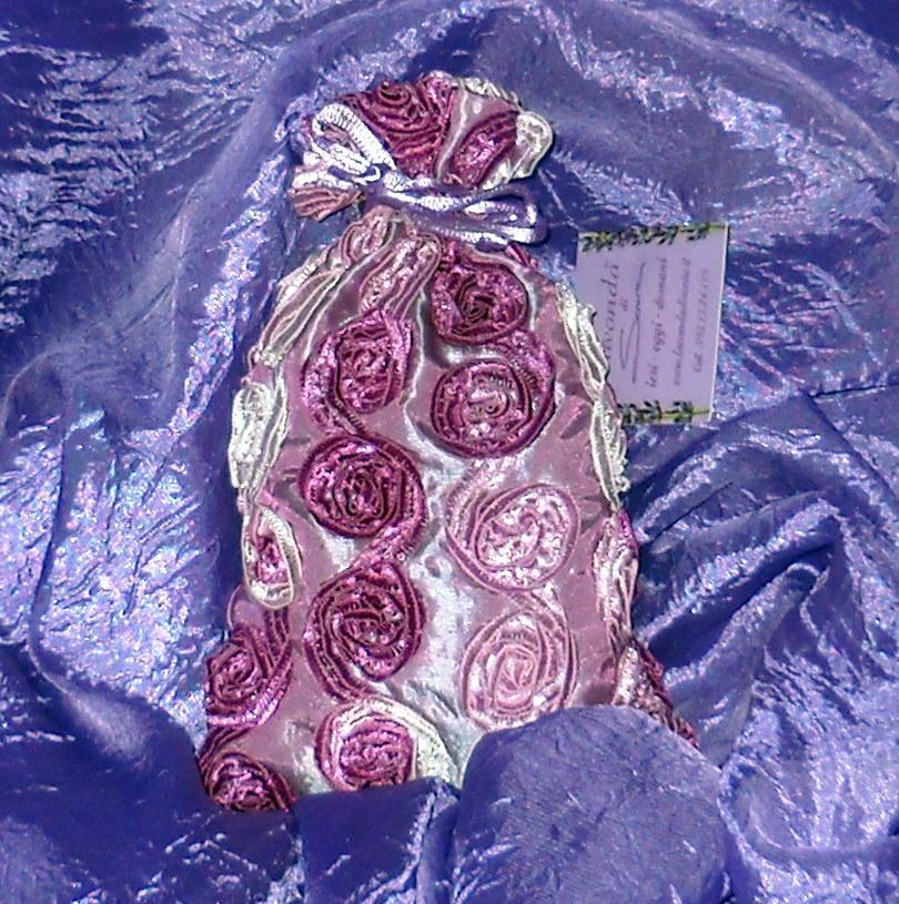 Sacchetto fiori di Lavanda decorato con Rose L. Lu