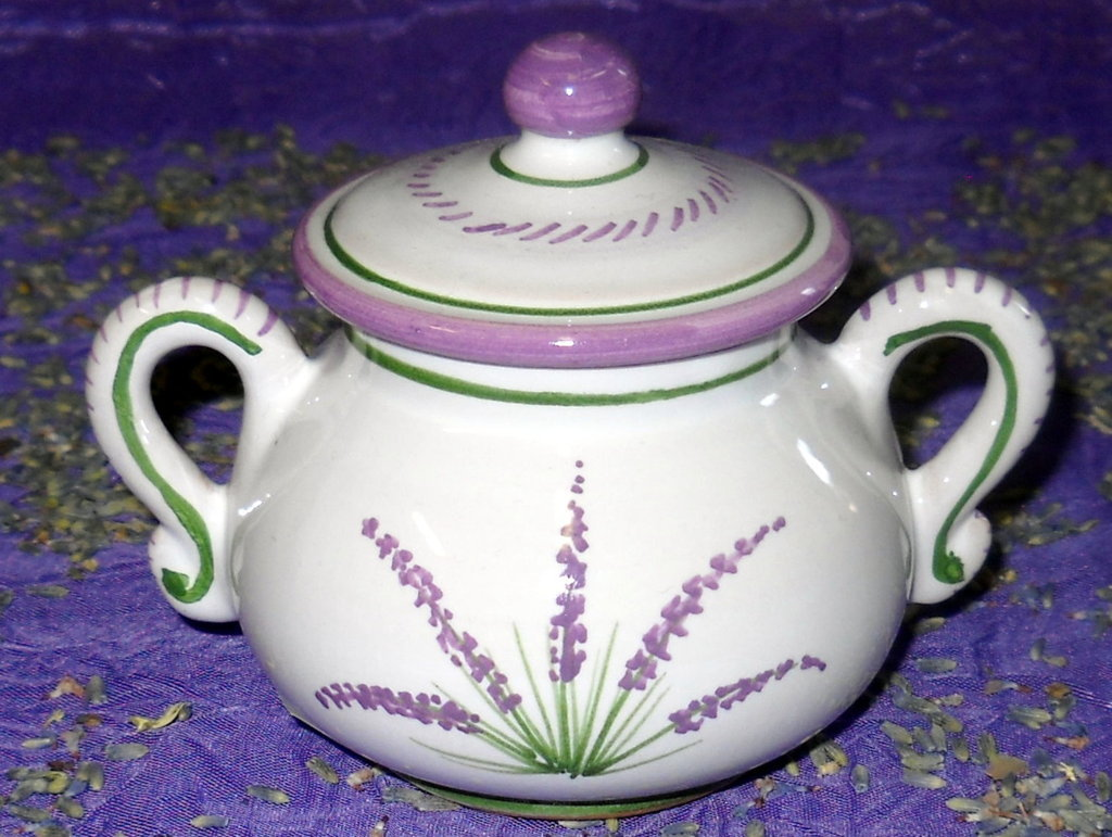Zuccheriera decorata Deruta